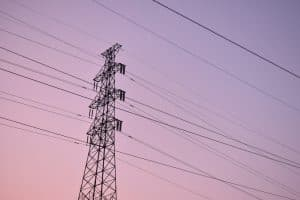 black steel electric post
